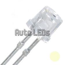 15 x Warm White LED 5mm Flat Top - Super Bright