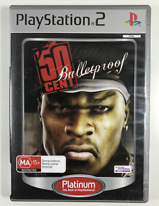 50 Cent Bulletproof Platinum Game PS2  PAL Complete With Manual