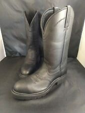 Twisted X Men's 8 D Black Leather Pull On Western Cowboy Work Boots MSC0003