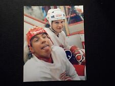 Rare Bob Probert 8x10 Photo Fantastic Shot Classic Toothless Hockey Smile