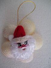 SANTA CLAUS Seashell Christmas Beach Ornament