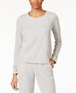 Alfani Women's Gray Pajama Top Double Knit Ruched Sleeve Size 3XL