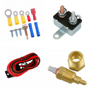 Car Fan Wiring Harness Electric Installation Kit 185° Thermostat Circult Breaker