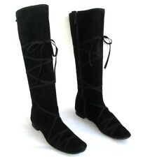 REPETTO Boots flat zip leather black velvet 38 > 37 MINT