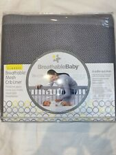 New listing BreathableBaby Classic Breathable Mesh Crib Liner Bumper Gray