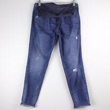 Old Navy 10 Maternity Jeans Boyfriend Skinny Denim Full Panel Distressed Med