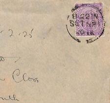 U193 1925 India RAILWAY Superb TPO CDS Cancel Cover Louth Lincs{samwells-covers}
