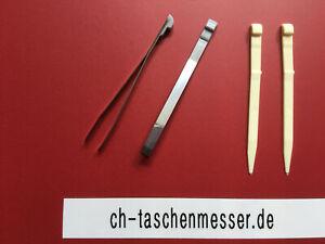 2 x Zahnstocher und Pinzette Victorinox Taschenmesser klein Classic Ersatzteil