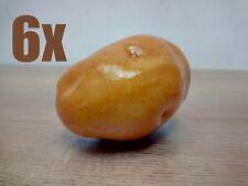 6 x Potatoes Brown Fake Plastic Potato 10cm Vegetables