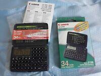 Rare CANON ZX2100 Vintage ORGANIZER 34 KB Calculatore GIACENZA NUOVA in BOX NOS!