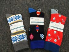 MEN'S CHRISTMAS SOCKS BY OLD NAVY **3 PAIR** NEW WITH TAGS