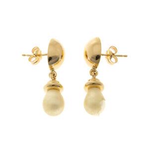Pre Owned 18ct Pearl Drop Earrings