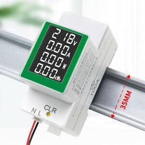 Power Meter Voltmeter Ammeter Energy Meter Digital Din Rail Power Factor Voltage