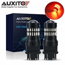 2x AUXITO 3157 3156 3457 48SMD LED Brake Tail Stop Light Bright RED Light Bulb