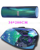 Headlight Tint Film Decal Car VAN Tail Fog Light Vinyl Wrap 30 x 200cm Dark Blue