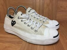 RARE🔥 Jack Purcell X Converse Comme Des Garcons PLAY Cream Black Heart 4.5