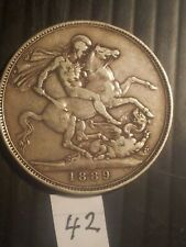 QUEEN VICTORIA SILVER CROWN 1889 (UNITED KINGDOM)