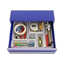 Organizadores de cajón de casa transparente/Gris Conjunto de 6 piezas, cajas de almacenamiento