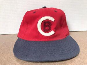 Ebbets Field Flannels JCrew Hat Red Cleveland Buckeyes Cap Made In USA