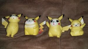 Pokemon Pikachu Figures X4
