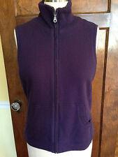 Coldwater Creek M 10-12 Women's Purple Vest