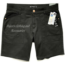 LEE Women's Petite Mid-Rise Perfectly Proportioned Bermuda Black Shorts, 14P NEW