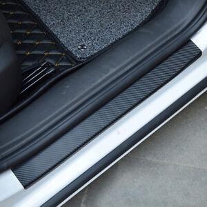 4x Anti-Kick Carbon Fiber Car Door Sill Scuff Protector Sticker Auto Accessories