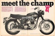 1966 Norton Atlas Motorcycle Centerfold Vintage Ad