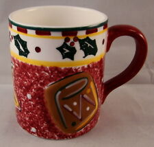"The Cellar LOG CABIN ""Cookies for Santa"" Mug 4"" x 3 1/2"""