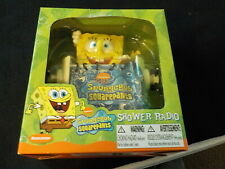 2003 SpongeBob SquarePants Shower Radio 2 Band Am/Fm Radio New in Box