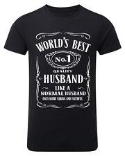World Best Husband No 1 Mens T shirt Birthday Gift Valentine Funny Lovers DT