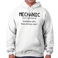Mechanic Definition Funny Sarcastic Engineer Hooded Sweatshirts Hoodies For Men