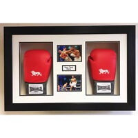 BOXING GLOVE DISPLAY CASE / 3D BOX For Anthony Joshua 2x Signed Boxing Gloves