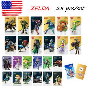25 Pcs New Legend Of Zelda BOTW NFC Game Cards For Nintendo Switch & Wiix U