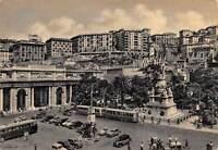 Cartolina Genova Piazza Acquaverde Stazione Principe Monumento Colombo auto bus