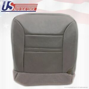 2000 2001 Ford Excursion Limited Driver Side Bottom Leather Seat Cover Gray