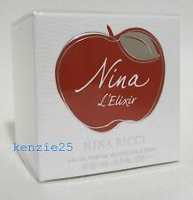 NINA L'ELIXIR NINA RICCI WOMEN PERFUME EDP SPRAY 50 ML / 1.7 FL OZ NIB