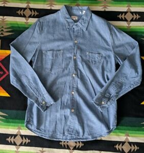 Levi's Vintage Clothing LVC Blue 1920'S two Pocket Sunset Button Shirt - Small