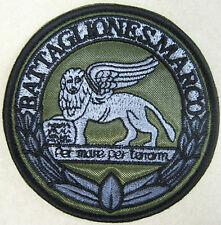 """Toppa/Patch Bassa Visibilità Tattica Stemma """"BATTAGLIONE S.MARCO"""" - MARO' M.M."""