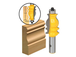 """1-5/8"""" Architectural Molding Router Bit - 1/2"""" Shank - Yonico 16131"""