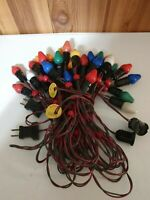 Vintage 1950 NOMA BAKELITE 30 bulb insert, red/green WIRE, red bead Lights WORKS