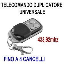TELECOMANDO DUPLICATORE CANCELLO AUTOMATICO UNIVERSALE A 433,92 mhz FAAC BFT