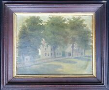 ANTIQUE AMERICAN FOLK ART WAKEFIELD MA FRANKLIN POOLE NEW ENGLAND HOMES PAINTING