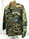 US Air Force Officers Patched Woodland Camo Field Jacket