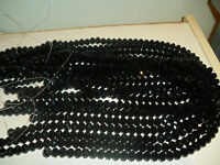 Joblot of 10 strings (720 beads) 8mm Black Crystal beads new wholesale