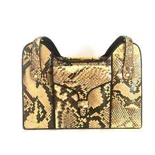 Genuine Snakeskin Bag Purse Frame Stamped HK Kiss Clasp Vintage 1960s/70s