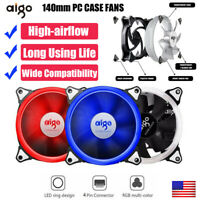 AURORA 140mm Quiet Brushless Computer Cooler Fan PC CPU Case Cooling 4Pin Fans