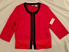 NWT KIM ROGERS Womens Dress Jacket~Med-Red & Orange-Lined- Belk MSRP $50