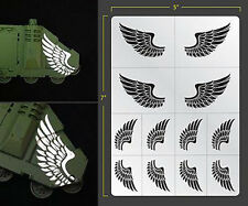 WINGS ANGEL FEATHERED SELF ADHESIVE AIRBRUSH STENCIL WARGAMING FALLOUT HOBBIES