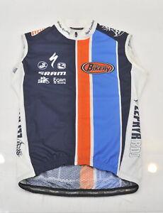Giordana Women's S Montclair Bikery Raintex Wind Vest Blue/Orange New Old Stock